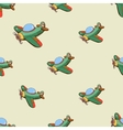 Seamless pattern with colored plane vector image vector image