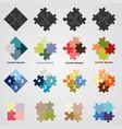 set puzzle symbols vector image