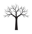 shape of black tree without leaves vector image vector image
