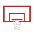 silhouette colorful with square basketball hoop vector image vector image
