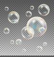 soap bubbles rainbow reflection soap vector image vector image