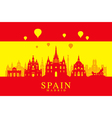 Spain Travel Landmarks Flag vector image
