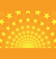 starry bright yellow and orange comic background vector image vector image
