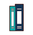 text books library icon vector image