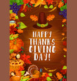 thanksgiving autumn harvest greeting card vector image vector image