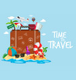 time to travel template vector image vector image