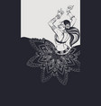 Tribal fusion bellydance dancer contour graphic