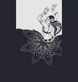 Tribal fusion bellydance dancer contour graphic vector image