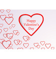 Valentine background with hearts flying vector image