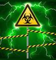 warning sign biological hazard fenced danger vector image vector image