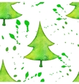 Christmas tree in watercolor trending style vector image