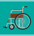 wheelchair in the hospital vector image