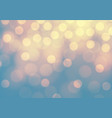abstract yellow bokeh light on blue luxury backgro vector image vector image