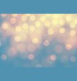 abstract yellow bokeh light on blue luxury vector image vector image