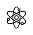 atom logo icon vector image