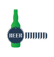 Beer mood - t-shirt print or label with green vector image vector image