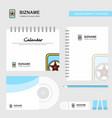 card game logo calendar template cd cover diary vector image vector image