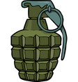 cartoon doodle grenade vector image vector image