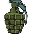 cartoon doodle grenade vector image vector image