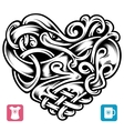 celtic pattern in shape heart vector image