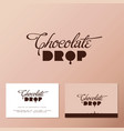 chocolate drop cafe business card vector image vector image