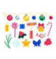 christmas symbol decoration and attribute set vector image vector image