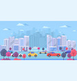 cityscape with large modern buildings urban vector image vector image