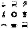 coffee shop icon set vector image