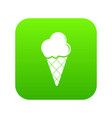 cold ice cream icon green vector image vector image