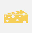 color cheese icon isolated on background modern f vector image vector image
