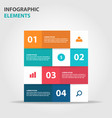 colorful label business infographics elements vector image vector image