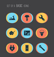construction icons set with fire bucket vector image