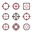 crosshair icons set isolated vector image
