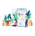 delivery tracking concept vector image