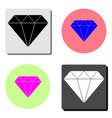 diamond flat icon vector image vector image
