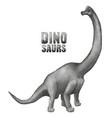dinosaur in stippling technique vector image vector image