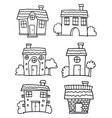 doodle of house various set vector image vector image