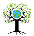 earth tree vector image
