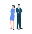 employees company workers together vector image