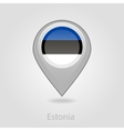 Estonian flag pin map icon vector image vector image
