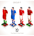 EURO 2016 Championship GROUP F vector image vector image