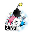 fashion bomb exposion with stars patch vector image vector image