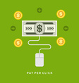Flat design business Pay per click on-line s vector image
