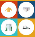 flat icon garment set of banyan underclothes vector image