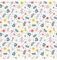 floral seamless pattern with branches flowers and vector image vector image