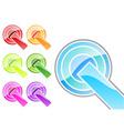 glossy symbols vector image