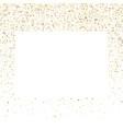 golden splash or glittering spangles square frame vector image vector image