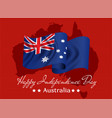 happy independence day of australia greeting card vector image