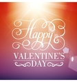 Happy Valentines day typographical background vector image vector image