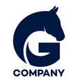 horse and g company linked letter logo vector image vector image